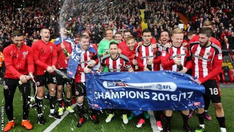 Sheffield United celebrate