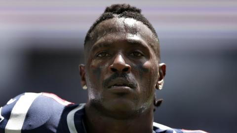 Antonio Brown playing for the New England Patriots