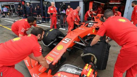 Ferrari team principal Mattia Binotto says they 'working to address' the performance gap to Mercedes and Red Bull on tracks where downforce is key