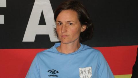 Dr Carolin Braun the female Bostwana national team coach