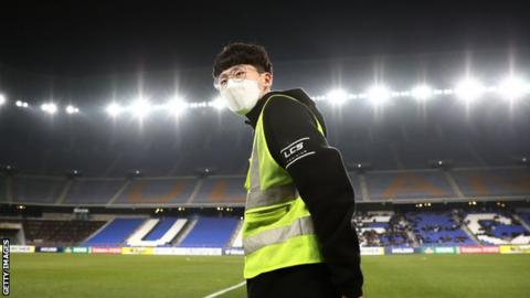 South Korea football stadium affected by coronavirus