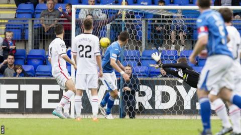 Graham Cummins scores for St Johnstone against Inverness Caledonian Thistle