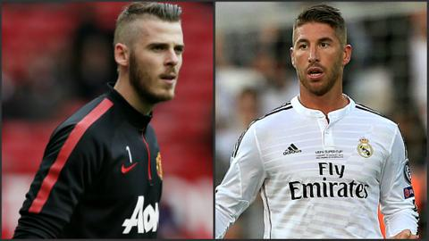David De Gea and Sergio Ramos