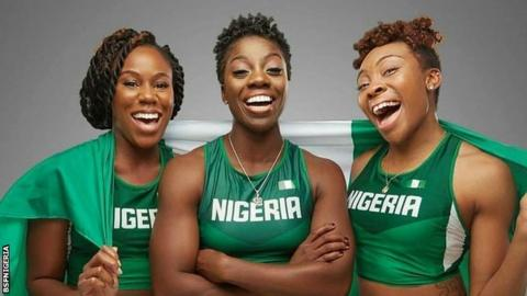 Nigeria's women's bobsleigh team