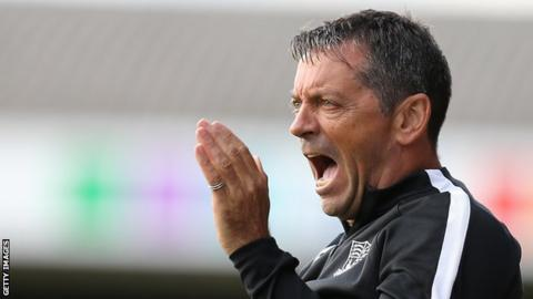 Swindon Town manager Phil Brown.