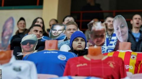 Fake fans: European soccer team replaces supporters with mannequins