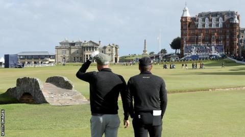 The Swilken Bridge at the 18th, St Andrews' Old Course