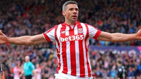 Stoke City forward Jon Walters