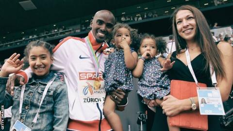 Mo Farah and family