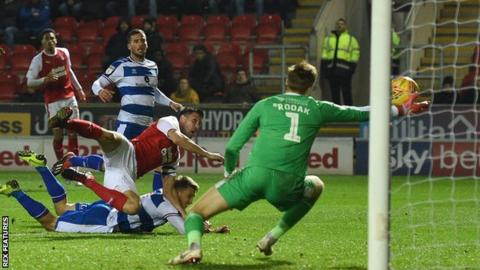 Luke Freeman equalises for QPR at Rotherham