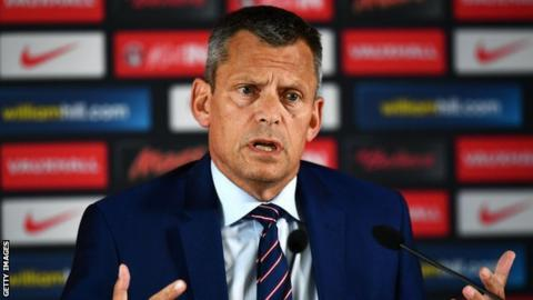 FA chief executive Martin Glenn at a news conference