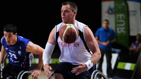 GB wheelchair basketball player Simon Munn