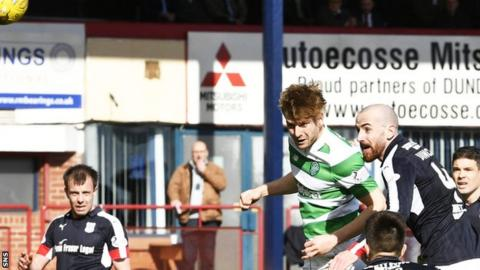 Celtic's Stuart Armstrong scores against Dundee