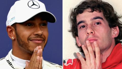 Hamilton and Senna