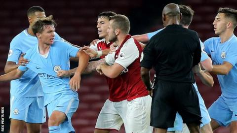 Arsenal's Jack Wilshere is sent off