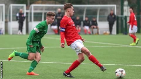 Jersey v Guernsey in the U18 Muratti
