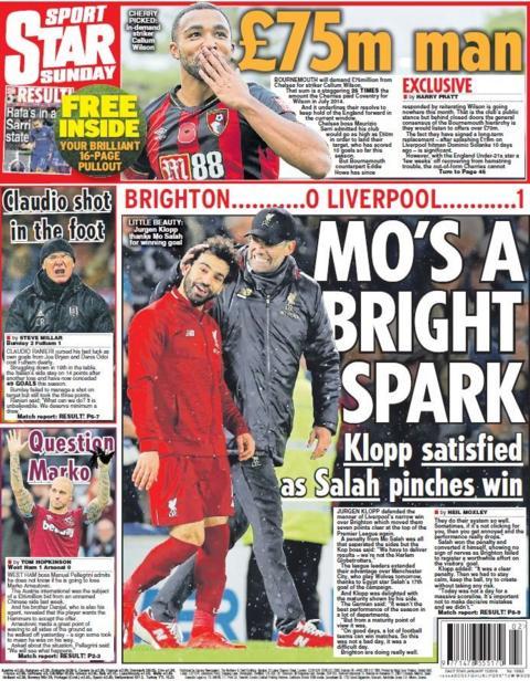 Star Sunday back page