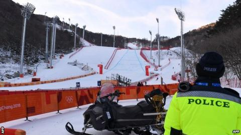Men's downhill course after postponement
