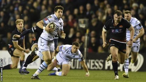 Lloyd Williams' try sparked a second-half comeback for Cardiff
