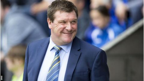 St Johnstone manager Tommy Wright guided the team to a Scottish Cup triumph in 2014