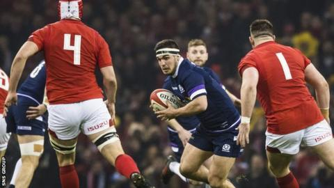 Scotland hooker Stuart McInally made his first Six Nations start in Cardiff
