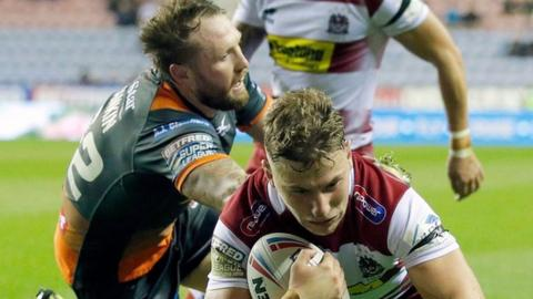 George Williams scored the first of Wigan's four tries