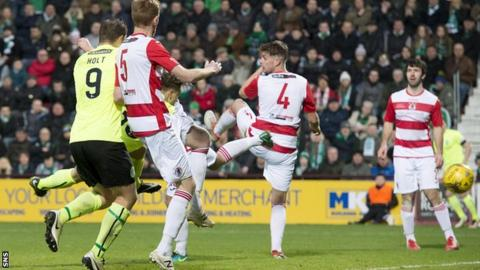 Bonnyrigg Rose Athletic lose 8-1 to Hibernian in the Scottish Cup