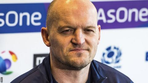 Scotland coach Gregor Townsend speaks to the media after confirming his team to face England