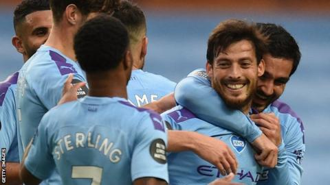 David Silva bids Premier League farewell as Man City thump Norwich