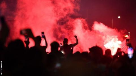 Liverpool fans celebrate