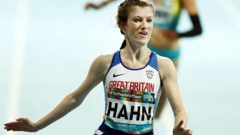 Sophie Hahn wins the T38 100m final at the World Para-Athletics Championships