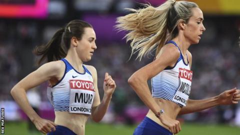Scotland's Laura Muir and Eilish McColgan