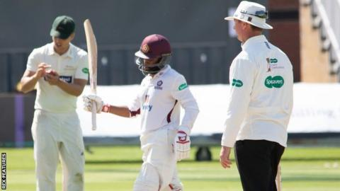 South African Test player Temba Bavuma made his first Northants half-century, in his ninth County Championship innings for the county