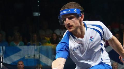 Alan Clyne in action for Scotland at the Commonwealth Games in Glasgow