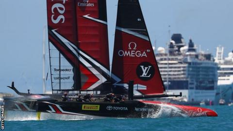 New Zealand compete at America's Cup