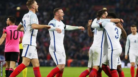 England had three efforts on target and scored three goals