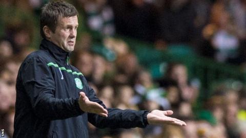 Celtic manager Ronny Deila looks concerned