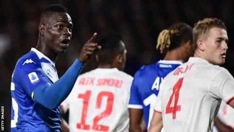 Mario Balotelli has been targeted by racist abuse