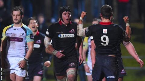 Edinburgh beat Ospreys 24-16 at Myreside in February 2015
