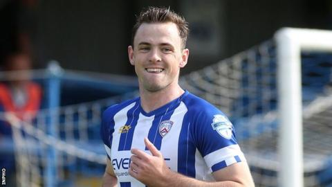 Coleraine winger Darren McCauley