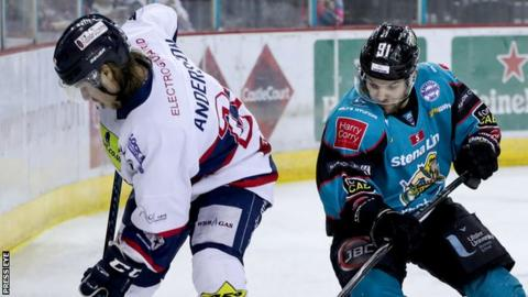 The Belfast Giants beat Dundee Stars 6-4 in their final Elite League game of the season on Saturday