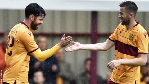 Motherwell midfielder Liam Donnelly (left) has scored four goals in three League Cup matches