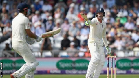 Alastair Cook and Keaton Jennings in action for England