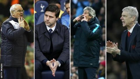 Claudio Ranieri, Mauricio Pochettino, Manuel Pellegrini, Arsene Wenger