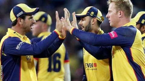 T20 Blast final: Essex Eagles beat Worcestershire Rapids to win title for first time