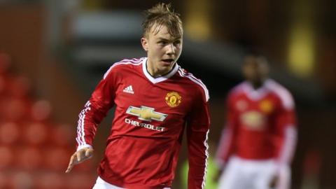 Manchester United midfielder Charlie Scott