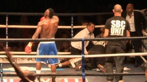 Welterweight Wilson, 29, was knocked out by Serge Ambomo on Friday, 12 September, and suffered a head injury that required surgery.