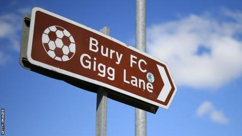Bury have had four matches suspended by the English Football League this season