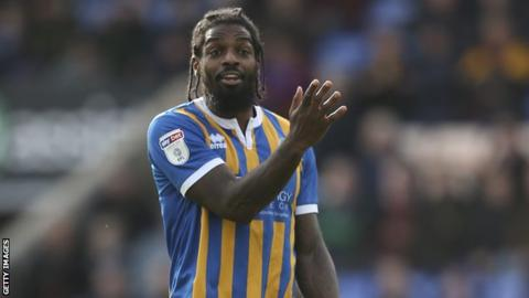 Anthony Grant in action for Shrewsbury Town