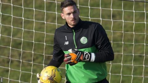 Celtic goalkeeper Craig Gordon during training on Friday